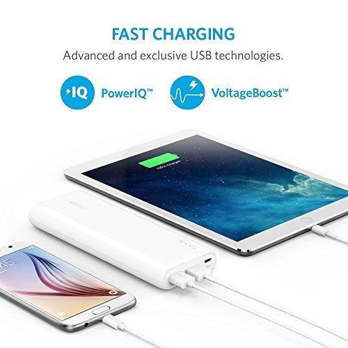 Anker 2nd Gen Astro E5 20100mAh Portable Charger  External Battery Power Bank with PowerIQ Technology 2-Port 3A for iPhone 6 Plus 5S 5C 5 4S