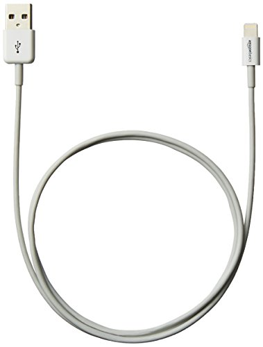 AmazonBasics Apple Certified Lightning to USB Cable - 3 Feet (0.9 Meters) - White