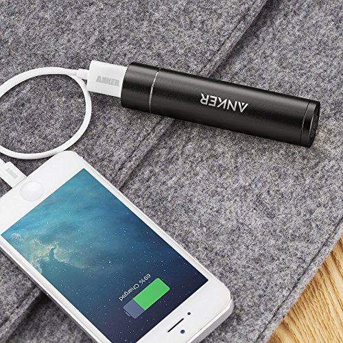 Anker PowerCore+ mini 3350mAh Lipstick-Sized Portable Charger (3rd Generation, Premium Aluminum Power Bank) One of the Most Compact External Batteries, Uses High-Quality Panasonic Cells