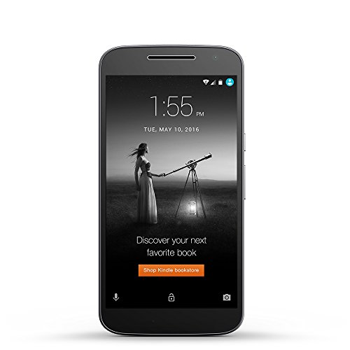 Moto G (4th Generation) - Black - 16 GB - Unlocked - Prime Exclusive - with Lockscreen Offers & Ads