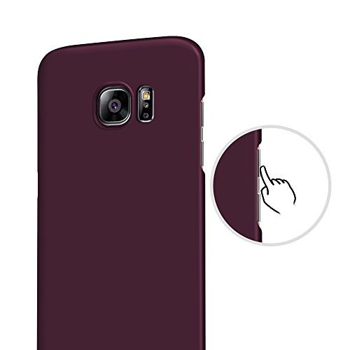 TURATA Slim fit Non Slip Surface Four Layer Case for Samsung Galaxy S7 Edge - Purple