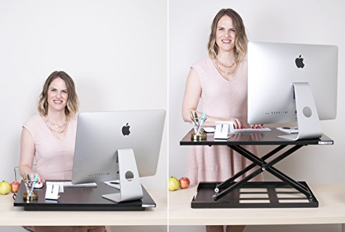 Stand Steady® X-Elite Pro Standing Desk - Instantly Convert Any Desk into a Sit / Stand up Desk, Height-Adjustable, Fully Assembled Desk Converter