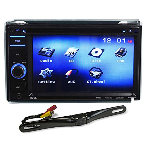 "Boss BV9356 6.2"" Double DIN Car Monitor DVD/USB/SD Player+License Plate Camera"