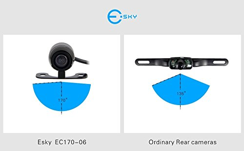 Esky EC170-11 World Smallest HD Color CMOS Waterproof Vehicle Car Rear View Backup Camera, 170 Degree Viewing Angle Rearview Camera- Size: 0.86*0.65*0.50 inch (No Guideline Version)